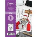 Crafter's Companion - A6 Rubber Stamp by Donna Ratcliff  - Santa's Secret